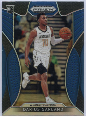 Darius Garland Blue Rookie Card 2019 Prizm Draft Picks #6 Vandy
