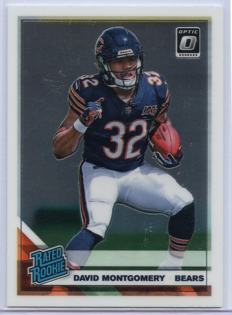 David Montgomery Rated Rookie Card #161 Donruss Optic Football 2019 Bears RB
