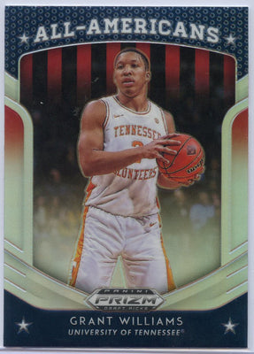 Grant Williams silver rookie card #22 All-Americans Prizm Draft Picks 2019 Tennessee Volunteers