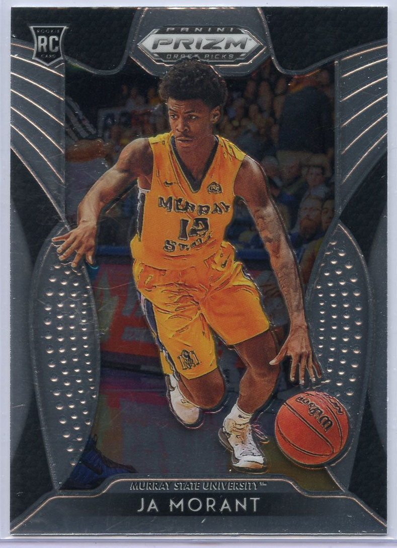 Ja Morant rookie card base #65 2019 Prizm Draft Picks Murray State