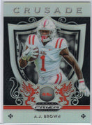 "A.J. Brown ""Crusade"" insert card No. 5 Prizm Draft Picks Ole Miss"