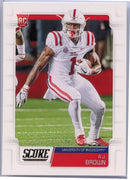 A.J. Brown Rookie Card Ole Miss 2019 Score Football #348