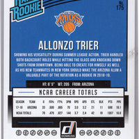 2018-19 Panini Donruss Basketball No. 175 Allonzo Trier rookie card pink laser 27/79