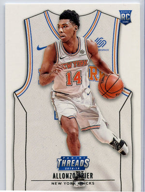 Allonzo Trier rookie card 2018-19 Threads Basketball No. 188