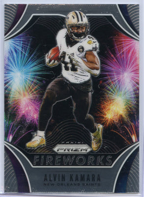 2019 Panini Prizm Football Alvin Kamara FIREWORKS Card #FW-AK New Orleans Saints