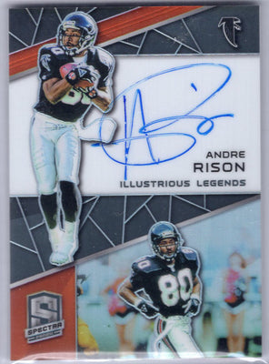Andre Rison autograph card 2019 Spectra Football No. IL-AR Falcons