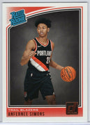 Anfernee Simons 2018-19 Panini Donruss Basketball Rated Rookie No. 186 Trail Blazers