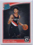 Anfernee Simons Rated Rookie 2018-19 Donruss Optic Basketball No. 186