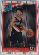 Anfernee Simons RC 2018-19 Donruss Optic Basketball Rated Rookie No. 186
