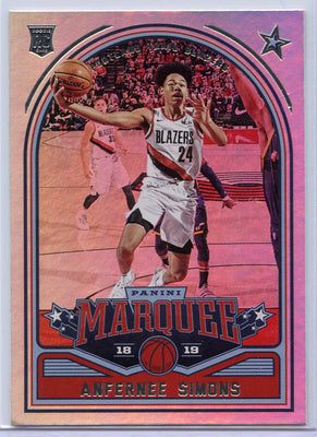 Anfernee Simons rookie card 2018-19 Panini Marquee No. 242