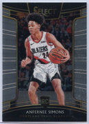 Anfernee Simons rookie card 2018-19 Select Basketball No. 39