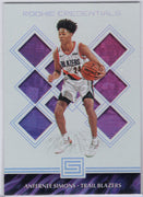 Anfernee Simons Rookie Credentials 2018-19 Panini Status Basketball No. 15 card