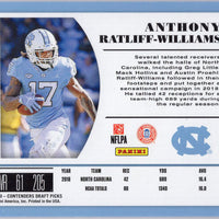 2019 Panini Contenders Draft Picks #159 Anthony Ratliff-Williams auto rookie card /99 UNC - Titans