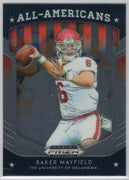 Baker Mayfield All-Americans insert card No. 18 2019 Prizm Draft Picks