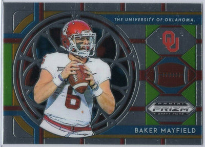 Baker Mayfield Stained Glass Insert Card No. 22 - 2019 Prizm Draft Picks Oklahoma