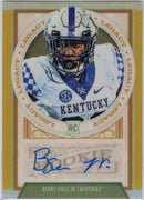 2019 Panini Legacy Football Gold Benny Snell Jr. Auto RC Kentucky - Pittsburgh Steelers