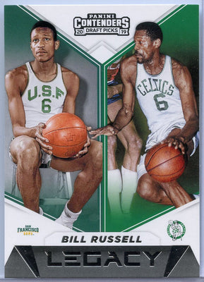 Bill Russell Legacy card No. 7 Panini Contenders Draft Picks 2019