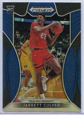 Jarrett Culver Rookie Card BLUE #7 2019 Prizm Draft Picks Texas Tech