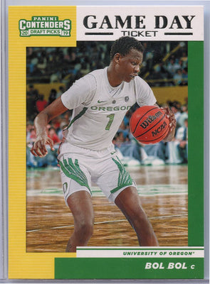 Bol Bol rookie card Game Day Ticket 2019 Panini Contenders Draft Picks