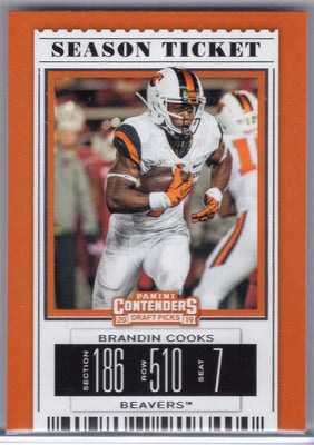 Brandin Cooks 2019 Panini Draft Picks #17 Oregon State card
