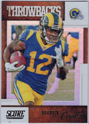 Brandin Cooks 2019 Score Football T-11 LA Rams Throwbacks card