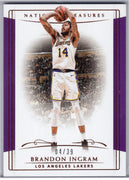 Brandon Ingram card 2018-19 Panini National Treasures Basketball No. 48