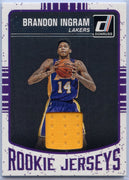 Brandon Ingram Rookie Jerseys Patch Card #1 2016-17 Donruss Basketball Los Angeles Lakers