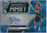 Brent Barry Autograph Card 2018-19 Spectra Basketball Making It Rain MR-BBV 36/60