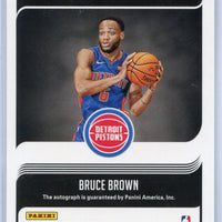 2018-19 Panini - Donruss Basketball number SG-BBR Signature Series Bruce Brown autograph rookie card Pistons