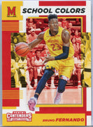 Bruno Fernando rookie card No. 28 Contenders Draft Picks School Colors Maryland