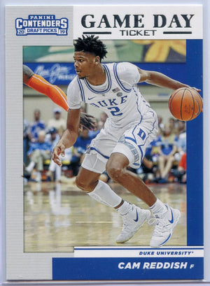 Cam Reddish Game Day Ticket Rookie Card No. 4 Duke