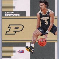 Carsen Edwards rookie card School Colors 2019 Contenders Draft Picks #29