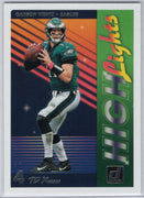 "Carson Wentz ""High Lights"" insert card 2018 Donruss Football No. H-17"