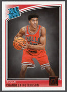 Chandler Hutchison 2018-19 Panini Donruss Basketball Rated Rookie No. 166 Chicago Bulls