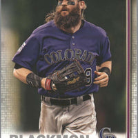 Charlie Blackmon Card #16 2019 Topps Series 1 Baseball Colorado Rockies OF