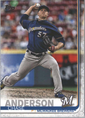 2019 Topps Series 1 Baseball Chase Anderson Card #5 Milwaukee Brewers