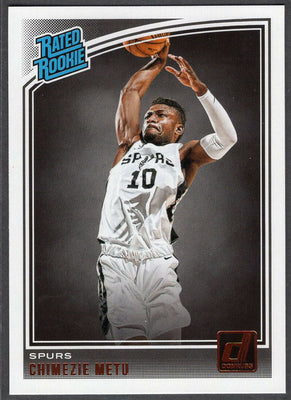 Chimezie Metu 2018-19 Panini Donruss Basketball Rated Rookie No. 195 Spurs