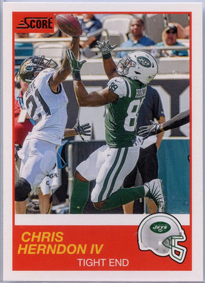 Chris Herndon IV 2019 Score Football #157 card