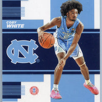 2019 Panini Contenders Draft Picks School Colors Coby White rookie card No. 8 North Carolina