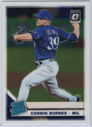 Corbin Burnes Rated Rookie 2019 Donruss Optic Baseball #33 Brewers