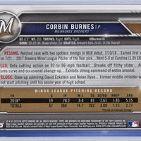 Corbin Burnes Rookie Card #65 Milwaukee Brewers 2019 Topps Bowman Baseball