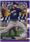 103/250 Corbin Burnes Purple Rookie Card #65 2019 Bowman Baseball Milwaukee Brewers Pitcher
