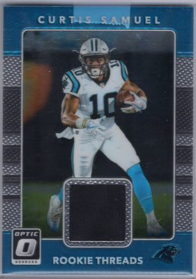 Curtis Samuel rc 2017 Panini Donruss Optic Rookie Threads #12