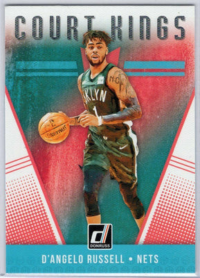 D'Angelo Russell Court Kings insert card No. 32 Brooklyn Nets