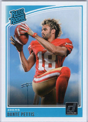 Dante Pettis Rated Rookie Card No. 321 Donruss Football