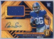 Darius Slayton Rookie Auto Patch 2019 Gold Standard Football #230 NY Giants