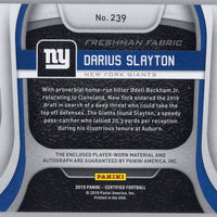 2019 Panini Certified Football No. 239 Darius Slayton RPA