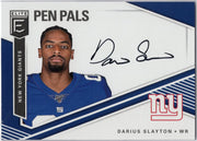Darius Slayton RC Autograph 2019 Donruss Elite Pen Pals No. PP-DS