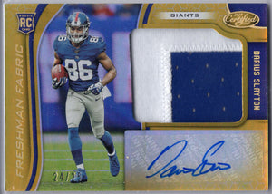 Darius Slayton Rookie Card Patch Autograph RPA 2019 Certified Football