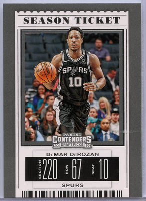 DeMar DeRozan Season Ticket basketball card #14 San Antonio Spurs